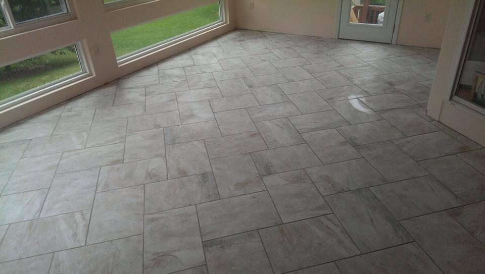 Herringbone Decorative Tile Handsed Hardwood Flooring